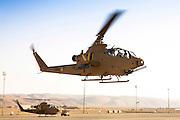 Israeli Air force (IAF) helicopter, Bell AH-1 Cobra in flight