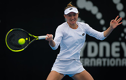 January 10, 2019 - Sydney, Australia - Aliaksandra Sasnovich of Belarus in action during her quarter-final match at the 2019 Sydney International WTA Premier tennis tournament. (Credit Image: © AFP7 via ZUMA Wire)