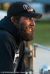 Phil Cusmano at the AMCA Swap Meet in New Smyrna Beach, FL during Daytona Bike Week, FL., USA. March 8, 2014.  Photography ©2014 Michael Lichter