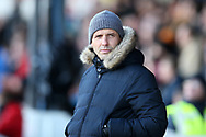 Paul Tisdale, the manager of Exeter City looks on. EFL Skybet football league two match, Newport county v Exeter City  at Rodney Parade in Newport, South Wales on New Years Day, Monday 1st January 2018.<br /> pic by Andrew Orchard,  Andrew Orchard sports photography.