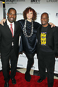 l to r: Greg Gates, Michaela Angela Davis, and Stephen Hill at The ImageNation celebration for the 20th Anniversary of ' Do the Right Thing' held Lincoln Center Walter Reade Theater on February 26, 2009 in New York City. ..Founded in 1997 by Moikgantsi Kgama, who shares executive duties with her husband, Event Producer Gregory Gates, ImageNation distinguishes itself by screening works that highlight and empower people from the African Diaspora.