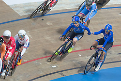 March 2, 2019 - Pruszkow, Poland - Letizia Paternoster (ITA), Maria Giulia Confalonieri (ITA) compete in the Women's Omnium at the UCI Track Cycling World Championships in Pruszkow on March 1, 2019. (Credit Image: © Foto Olimpik/NurPhoto via ZUMA Press)