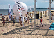 Lekcja zumby na plaży w Sopocie