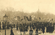 Russian Revolution, 1917: Marchers in St Petersburg