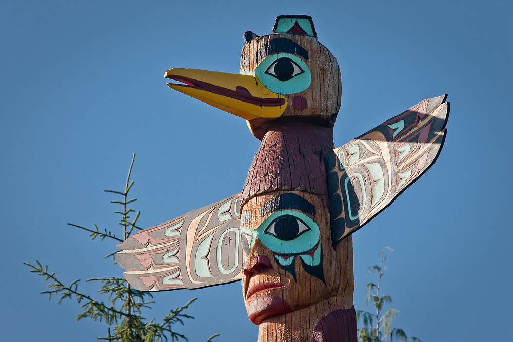 Totem at Saxman Totem Park, Saxman, Alaska