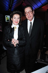 LORD SAATCHI and his wife JOSEPHINE HART  at the Costa Book Awards 2009 held at Quaglino's, 16 Bury Street, London SW1 on 26th January 2010.