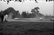 16/09/1967<br /> 09/16/1967<br /> 16 September 1967<br /> Phoenix Park Motor Racing, Kingsway Trophy Race, sponsored by Player and Wills (Ireland) Limited. Image shows J. Marsh in his Marcos (Mk II) (47)taking a wide line on a bend.