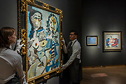 Pablo Picasso, Mousquetaire et nu assis (l), Est. GBP 12,000,000 - GBP 18,000,000 -Christie's unveil an exhibition of in advance of their Impressionist and Modern sale on 27 February.