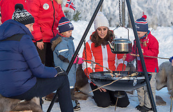 The Duke and Duchess of Cambridge are seen at a ski school in Oslo, Norway, on the final day of the Royal Tour of Sweden and Norway. <br /><br />3 February 2018.<br /><br />Please byline: POOL/I-Images/Vantagenews.com