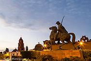 Statue of Ignacio Allende in the civic Plaza of San Miguel de Allende, Mexico