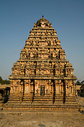 The Airatesvara Temple in Dharasuram, Kumbakonam, Tamil Nadu, India.The temple, constructed by Rajaraja II (r 1146-63) is a superb example of twelfth century Chola architecture and it's art depicts Shive in the rare incarnation as Kankalamurti, the mendicant