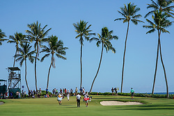 January 11, 2019 - Honolulu, HI, U.S. - HONOLULU, HI - JANUARY 11: Golfers walk to up to the green of hole #2 during the second round of the Sony Open at the Waialae Country Club in Honolulu, HI. (Photo by Darryl Oumi/Icon Sportswire) (Credit Image: © Darryl Oumi/Icon SMI via ZUMA Press)