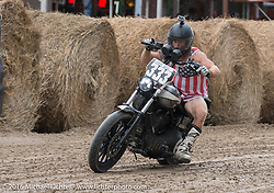 Hooligan racing at the Buffalo Chip during the annual Sturgis Black Hills Motorcycle Rally.  SD, USA.  August 10, 2016.  Photography ©2016 Michael Lichter.