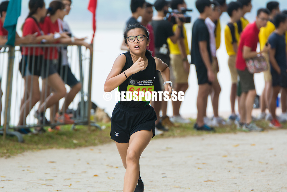 Sonia Koh of Evergreen came in sixth with a timing of 16:46.35 in the C Division Girls Category at the 57th National Schools Cross Country Championships. (Photo © Jerald Ang/Red Sports)