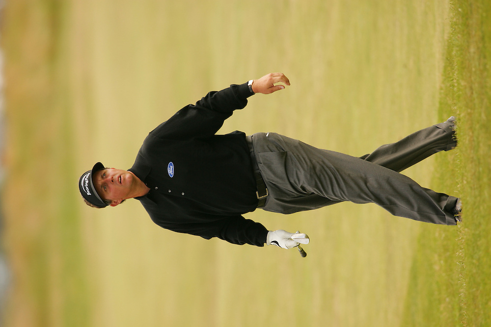 Phil Mickelson<br />2005 Open Championship ( British Open )<br />First Round<br />The Old Course<br />St. Andrews Links<br />Fife, Scotland<br />Thursday, July 14 2005<br />14-JUL-05<br />photograph by Darren Carroll