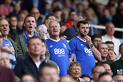 Birmingham City's supporters in the stands look nervous during the late stages of the match the match against Bristol City