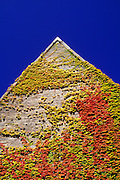 Image of a building detail in the fall, Amherst College, Massachusetts, American Northeast by Randy Wells