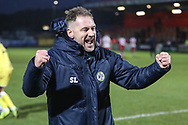 Forest Green Rovers assistant manager, Scott Lindsey at the end of the match during the EFL Sky Bet League 2 match between Stevenage and Forest Green Rovers at the Lamex Stadium, Stevenage, England on 26 January 2019.