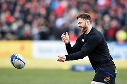Max Wright of Bath Rugby passes the ball during the pre-match warm-up - Mandatory byline: Patrick Khachfe/JMP - 07966 386802 - 18/01/2020 - RUGBY UNION - Kingspan Stadium - Belfast, Northern Ireland - Ulster Rugby v Bath Rugby - Heineken Champions Cup