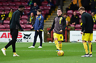 Burton Albion midfielder Joe Sbarra as he warms up for the The FA Cup 1st round match between Scunthorpe United and Burton Albion at Glanford Park, Scunthorpe, England on 10 November 2018.