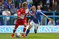 Photo: Pete Lorence.<br />Chesterfield Town v Wycombe Wanderers. Coca Cola League 2. 01/09/2007.<br />Sergio Torres evades Phil Picken.