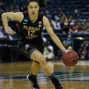 Mar 27,  2017  Stockton, CA, U.S.A. Florida State guard Brittany Brown (12) scored 8 points drives to the basket during the NCAA Women's Basketball Stockton Regional Championship between Florida State Seminoles and South Carolina Gamecocks 64-71 lost at Stockton Arena Stockton, CA.  Thurman James / CSM