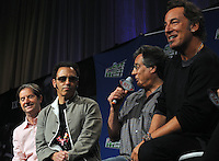 Bruce Springsteen & The E Street Band at the Pre-Super Bolw XLIII Press Conference.