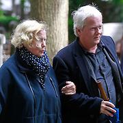 NLD/Amsterdam/20110729 - Uitvaart actrice Ina van Faassen, Kitty Jansen en zoon Dick van den Toorn
