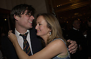 Alex James and Lucy Yeomans. David Bailey dinner hosted by Lucy Yeomans at Gordon Ramsay at Claridge's. 12 November 2001. © Copyright Photograph by Dafydd Jones 66 Stockwell Park Rd. London SW9 0DA Tel 020 7733 0108 www.dafjones.com