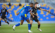 Paul Kalambayi of AFC Wimbledon heads clear during the EFL Sky Bet League 1 match between AFC Wimbledon and Lincoln City at Plough Lane, London, United Kingdom on 2 January 2021.