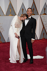 Chrissy Teigen and John Legend arrive for the 89th Academy Awards (Oscars) ceremony at the Dolby Theater in Los Angeles, CA, USA, February 26, 2017. Photo by Lionel Hahn/ABACAPRESS.COM