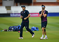 Cricket - 2019 ICC Cricket World Cup - pre-Final practice & press conferences<br /> <br /> England's Mark Wood and Joe Root during slip practice, at Lords.<br /> <br /> COLORSPORT/ASHLEY WESTERN