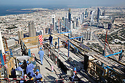 Dubai, United Arab Emirates, Jan 25, 2007, Construction of the Burj Dubai, tallest building in the world. PHOTO © Christophe VANDER EECKEN