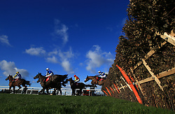 Sussex Ranger ridden by Jamie Moore (left) jumps the last to win the Tokio Marine Kiln Introductory Juvenile Hurdle Race during day one of the Betfair Tingle Creek Christmas Festival at Sandown Park Racecourse.