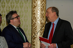 Pictured: Tom Watson and Councillor Andrew Burns, leader of Edinburgh'sLabour Group Party.<br /> Scottish Labour leader Kezia Dugdale, MSP,  and Tom Watson, MP deputy leader of the Labour Party, visited Edinburgh's Serenity cafe today to meet and encourage Labour candidates ffor the upcoming local elections;<br /> Ger Harley | EEm 27 March 2017