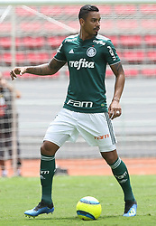 July 8, 2018 - San Jose, Estados Unidos - SAN JOSE, CA - 08.07.2018: LIGA ALAJUELENSE X PALMEIRAS - The player Antonio Carlos, SE Palmeiras, in the game against the team of Liga D Alajuelense, during a friendly match, in the National Stadium of Costa Rica, in the City of San Jose. (Credit Image: © Cesar Greco/Fotoarena via ZUMA Press)