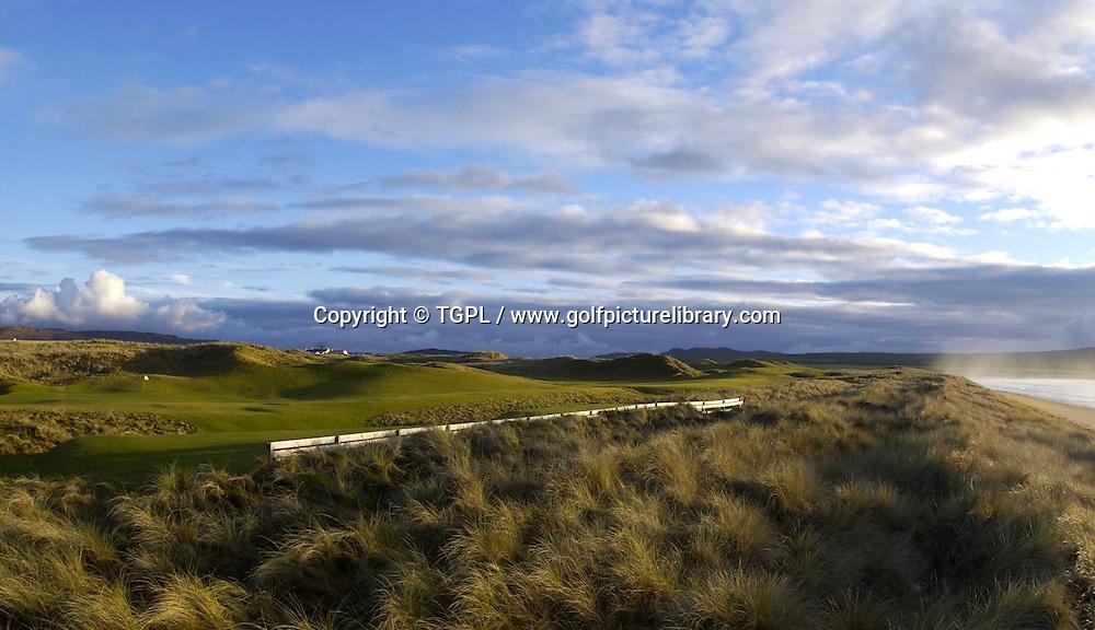 12th par 4 at The Machrie Golf Links ,Isle of Islay,Scotland.