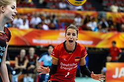 07-10-2018 JPN: World Championship Volleyball Women day 8, Nagoya<br /> Germany - Brazil / Lenka Durr #1 of Germany