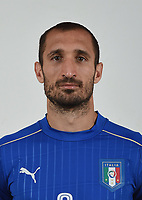 FLORENCE, ITALY - JUNE 01:  Giorgio Chiellini of Italy poses for a photo ahead of the UEFA Euro 2016 at Coverciano on June 1, 2016 in Florence, Italy.  Foto Claudio Villa/FIGC Press Office/Insidefoto