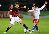 Fotball<br /> Italia<br /> Foto: Witters/Digitalsport<br /> NORWAY ONLY<br /> <br /> 06.01.2009<br /> <br /> v.l. David Beckham, Piotr Trochowski HSV<br /> <br /> Fussball Dubai Football Challenge 2009, Hamburger SV - AC Milan