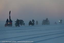Baikal Mile Ice Speed Festival competitors parade on the lake. Maksimiha, Siberia, Russia. Friday, February 28, 2020. Photography ©2020 Michael Lichter.