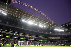 A general view of the arch at Wembley Stadium