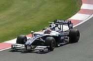 2009 Formula 1 Santander British Grand Prix at Silverstone in Northants, Great Britain. action from Friday practice on 19th June 2009. Kazuki Nakajima of Japan drives his Williams F1 car..