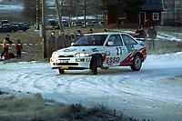 Motorsport, Rally Solør 2000. Roger Sandberg og Jostein Bråthen på SS2 med sin Ford Escort Cosworth