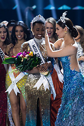 December 8, Atlanta, Georgia, USA: Zozibini Tunzi, Miss South Africa 2019 is crowned Miss Universe by Miss Universe 2018, Catriona Gray at the conclusion of The Miss Universe Competition at Tyler Perry Studios in Atlanta. The new winner will move to New York City where she will live during her reign and become a spokesperson for various causes alongside The Miss Universe Organization.  (Credit Image: ? Miss Universe Organization/ZUMA Wire/ZUMAPRESS.com)