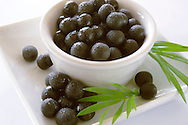 Photos & pictures of the  Brazilian acai palm berries the super fruit anti oxident from the Amazon. Acai berries has been used to help weight loss. Stock-fotos & images