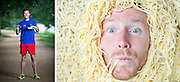 Elite runner Scott MacPherson powers his workouts with linguine, chicken, and a glass of red wine.