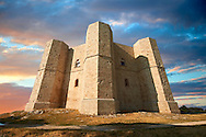 The medieval octagonal castle Castel Del Monte, built by Emperor Frederick II in the 1240's near Andria in the Apulia southern Italy .<br /> <br /> Visit our ITALY HISTORIC PLACES PHOTO COLLECTION for more   photos of Italy to download or buy as prints https://funkystock.photoshelter.com/gallery-collection/2b-Pictures-Images-of-Italy-Photos-of-Italian-Historic-Landmark-Sites/C0000qxA2zGFjd_k<br /> <br /> <br /> Visit our MEDIEVAL PHOTO COLLECTIONS for more   photos  to download or buy as prints https://funkystock.photoshelter.com/gallery-collection/Medieval-Middle-Ages-Historic-Places-Arcaeological-Sites-Pictures-Images-of/C0000B5ZA54_WD0s