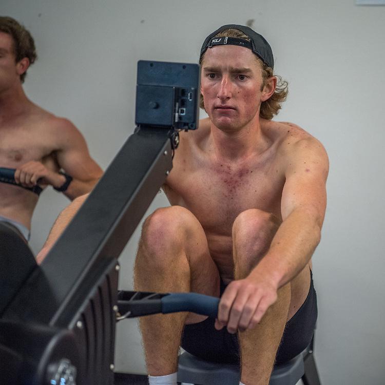 Bradley Leydon, Otago Rowing Club<br /> <br /> SRPC squad ergometer training at HPSNZ Apollo Sports Centre, Christchurch. Tuesday 20 November 2018 © Copyright photo Steve McArthur / @RowingCelebration