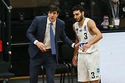 Basketball: Deutschland, 1. Bundesliga, Hamburg Towers - HAKRO Merlins Crailsheim, Hamburg, 10.01.2021<br /> Trainer Pedro  Calles (l.) und Maik Kotsar (beide Towers)<br /> © Torsten Helmke